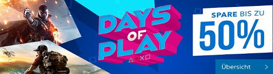 Days of Play - Bis zu 50% Rabatt im PSN Store