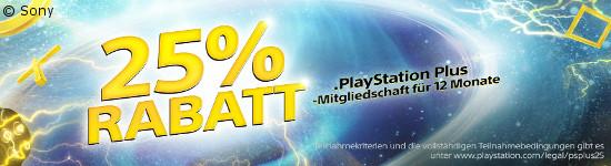 PlayStation Plus - Jahresabo um 25 % reduziert