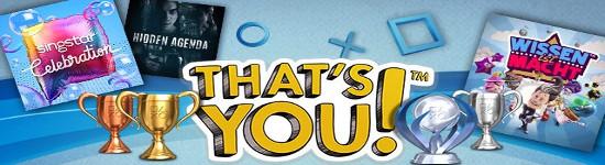 That's You! - Trophäen gegen Spiele eintauschen